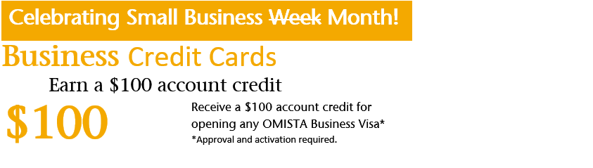 $100 Account credit on new Business Visa